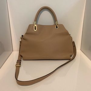 Vince Camuto Elva Satchel Leather Purse in Chesnut